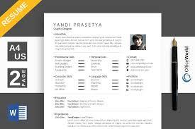 Minimalist Resume CV Ms Word Resume Templates Creative Market Best Minimalist Resume