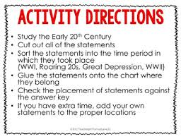 20th Century Wwi Roaring 20s Great Depression Wwii Timeline Sort Us History