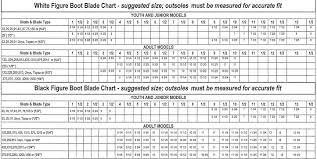 Bauer Blade Size Chart Jackson Ice Skate Size Chart Www Bedowntowndaytona Com