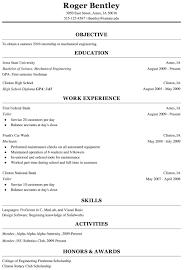 College Freshman Resume Examples