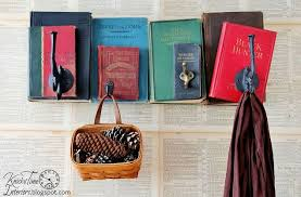 School Coat Racks Repurposed Books Into Unique Coat Rack Back To School Old School 66
