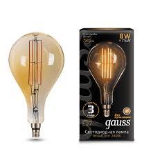 <b>Лампа Gauss</b> LED <b>Vintage</b> Filament <b>A160</b> 149802008 купить в ...