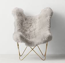 mongolian fur chair popular tye grey lamb erfly light aged brass for 24