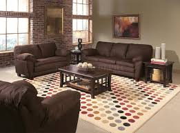 Living Rooms Color Schemes Living Room Gray Sofa Gray Recliners White Shelves Brown Chairs