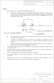 Pipe Spacing Chart Metric Bn Ds C42 Pipe Spacing Standard Metric Units