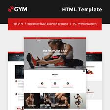 gym website design gym website templates