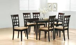 6 piece round dining set en dining table and 6 chairs alluring decor z tables entrancing