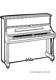 Kleurplaat Piano Musiek
