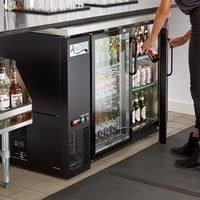 glass door beer coolers bar