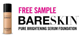bare minerals logo. free sample of bareminerals bareskin pure brightening serum foundation! bare minerals logo