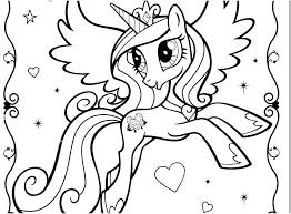my little pony coloring pages princess cadence filly display