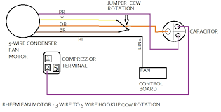 wiring a 5 wire thermostat 4 wires images ac condenser fan motor wiring diagram 3 wires rheem 3 wire to 5 wire