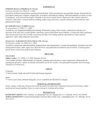 Gallery Of Usa Resume Template Sample Resume Cover Letter Format