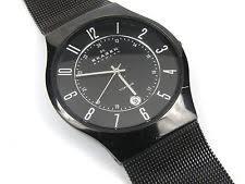 skagen mens titanium watch skagen mens 233xltmb titanium slimline watch
