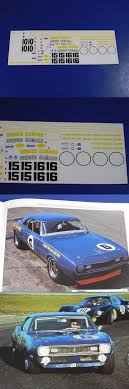 Fred Cady Design Decals 152927 Mark Donohue 6 15 16 Penske 1968 Chevy