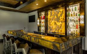 aria stone gallery backlit onyx nuvolato bar and feature wall