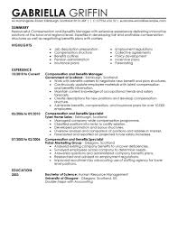 best compensation and benefits resume example livecareer choose