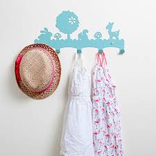 Nursery Coat Rack Woodland Coat Rack Nursery Wall Hanger Kid's Coat 24