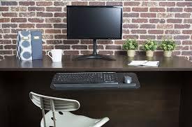 com vivo adjule computer keyboard mouse platform tray ergonomic under table desk mount drawer underdesk shelf mount kb03b office s