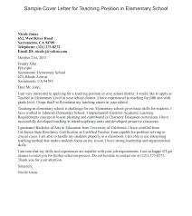 Cover Letter For Substitute Teaching Position Education Cover Letter