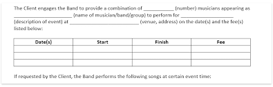 It makes your contractual work simpler, easier and more efficient. Wedding Band Contract Template Wedding Dj Contract Download Free Pdf