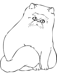 Small Picture Coloring Pages Animals Siberian Cat Coloring Page Cat Coloring