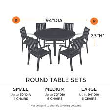 the new hickory collection round table and chairs cover for your outdoor patio furniture chairs provides
