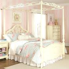 Queen Bed Canopy Size Frame Wood With Chiffon – meltbuzz.info