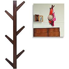 Vertical Coat Rack Wall Mount Custom Amazon 32Hook Wall Mounted Natural Bamboo Wood Tree Branch
