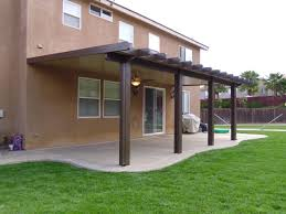 aluminum patio cover brown. Beautiful Patio Lovely Exterior Design With Solid Alumawood Patio Cover Plus Ceiling Fan  And Light Glass Door In Aluminum Patio Cover Brown G