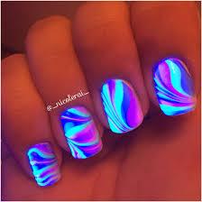 Cool Black Light Designs Watermarble Black Light Nails Nails Nailart Watermarble