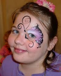simple cheek face painting ideas face paint erfly eye design purple