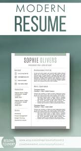 Modern Resume Cover Letters Modern Resume Template For Word 1 3 Page Resume Cover Letter