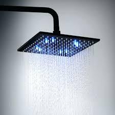water saving showers water saving shower head led square matte black water saving rainfall shower head