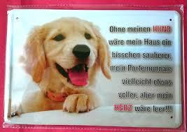Blechschild 20x30 Ohne Hund Wäre Mein Herz Leer Spruch Tier Fun