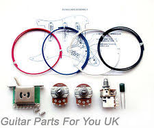 stratocaster kit guitars ebay Guitar Wiring Harness Uk 500k stratocaster fat strat wiring kit full size pots push pull pot 0 022uf st guitar wiring harness kits for les paul