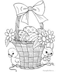 Small Picture Easter Basket Coloring Pages