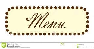 The Word Menu Menu Word Text Header Stock Illustration Illustration Of
