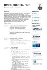 Entrepreneurship Trainer & Consultant Resume samples