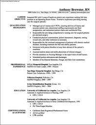 Cv Templates For Nursing Free Sample Nursing Resume 8 Download