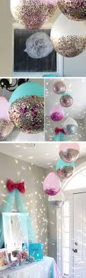 ... DIY Glitter Balloons | 20 + Last Minute New Years Eve Party Ideas