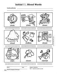 Blend Worksheet Worksheets Blends Kindergarten F ~ Koogra