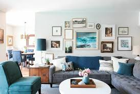 home office dark blue gallery wall. BLUE LIVING ROOM Home Office Dark Blue Gallery Wall P