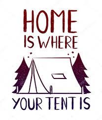 家はあなたのテントが T シャツのプリント デザインです旅行の流行に
