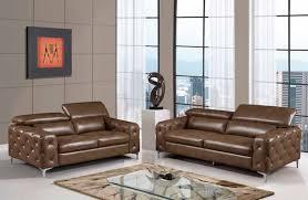 Walnut Furniture Living Room U8050 Living Room Set Walnut Leather Gel Sofa Loveset Chair