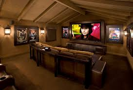 home theater room ideas home theater rustic with big screen built by