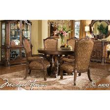 windsor court round dining table by michael amini