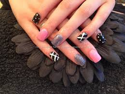 Eye Candy Nails & Training - Acrylic nails with baby pink gelish ...