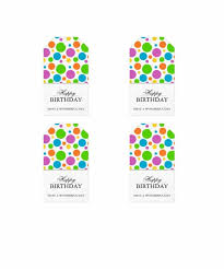 Birthday Tags Template 44 Free Printable Gift Tag Templates Template Lab