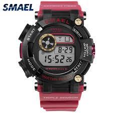 <b>SMAEL</b> 1638 <b>Digital Wristwatches Luxury</b> Army <b>Watches</b> Waterproof ...